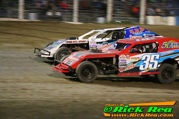 Tyler Peterson from Hickson ND in his #1TPO Midwest Modified has a photo finish win of only .016 seconds which is the closest finish in track history since electronic scoring to edge out John Halverson from Warren MN in his #35 Midwest Modified at The World Famous Legendary Bullring River Cities Speedway in Grand Forks NDThe previous record was established in 2012 which also was a World of Outlaw WORLD RECORD for the closest finish since electronic scoring. The record was set by World of Outlaw Late Model Driver Darrell Lanigan for a .024 second margin over second place which happened during the A Main Feature event at River Cities Speedway as well.